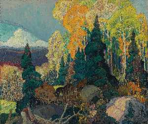 Franklin Carmichael - English Autumn Hillside