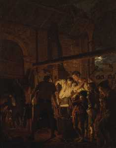 Joseph Wright Of Derby - The Blacksmith's Shop
