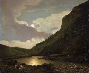 Joseph Wright Of Derby - Matlock Tor by Moonlight
