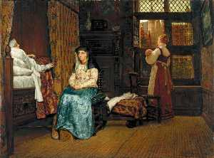 Lawrence Alma-Tadema - The Visit A Dutch Interior