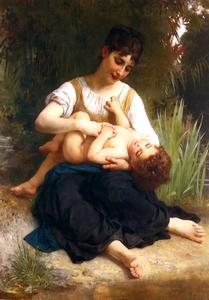 William Adolphe Bouguereau - Girls and children (Mi-Corps)