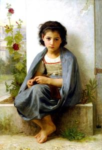 William Adolphe Bouguereau - La tricoteuse