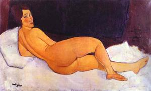 Amedeo Clemente Modigliani - Nude Looking over Her Right Shoulder