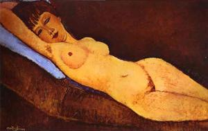 Amedeo Modigliani - Reclining Nude with Blue ..