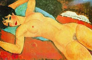 Amedeo Modigliani - Sleeping Nude with Arms Open (Red Nude)