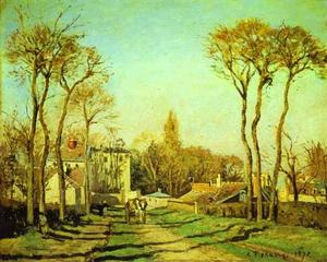 Camille Pissarro - Entrance to the Village of Voisins
