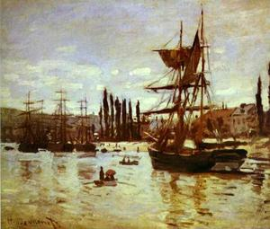 Claude Monet - Ships at Rouen