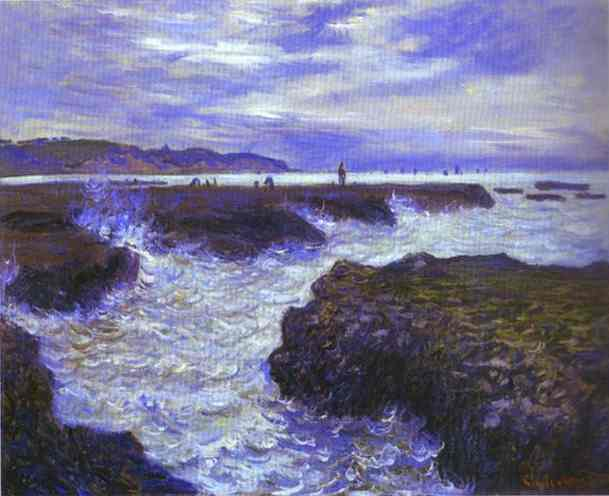 The Rocks near Pourville at Ebb Tide, 1882 by Claude Monet (1840-1926, France) | Reproductions Claude Monet | ArtsDot.com