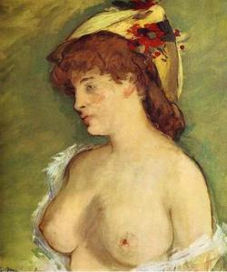 Edouard Manet - Blonde with Bare Breasts