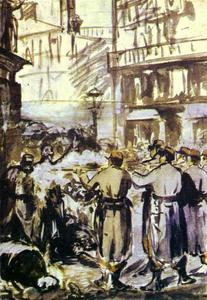 Edouard Manet - The Barricade (Civil War)