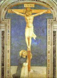 Fra Angelico - Christ on the Cross Adored by St. Dominic