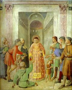 Fra Angelico - Distributing of Alms