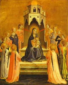 Fra Angelico - Madonna Surrounded by Angels
