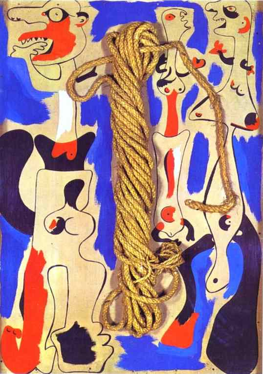 Buy Museum Art Reproductions : Rope and People I, 1935 by Joan Miro (1893-1937, Spain) | ArtsDot.com
