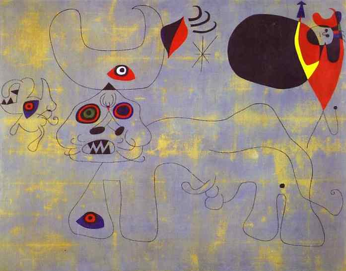The Bull Fight, Oil On Canvas by Joan Miro (1893-1983, Spain)