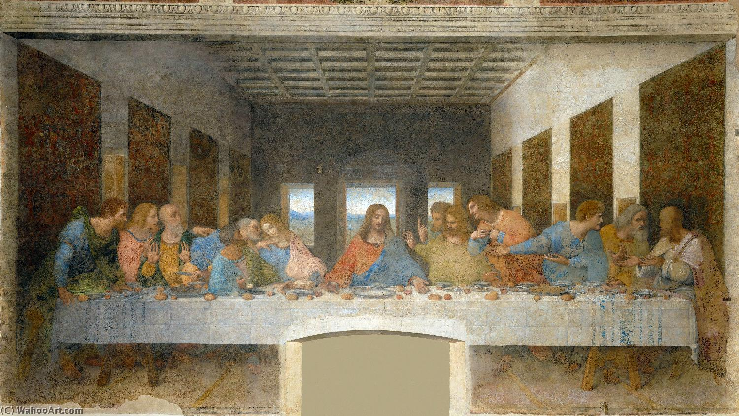 The Last Supper, 1495 by Leonardo Da Vinci (1452-1519, Italy) | Museum Art Reproductions | ArtsDot.com