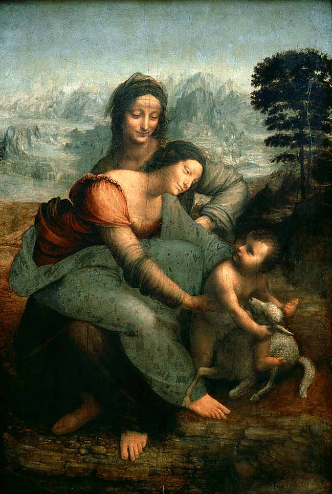 The Virgin and Child with Saint Anne, 1513 by Leonardo Da Vinci (1452-1519, Italy) | Paintings Reproductions Leonardo Da Vinci | ArtsDot.com