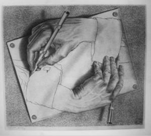Maurits Cornelis Escher - Drawing Hands