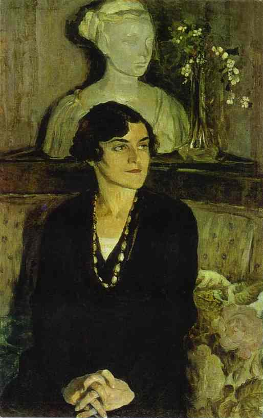 Portrait of Elizaveta Tal, Oil On Canvas by Mikhail Nesterov (1862-1942, Russian Empire)