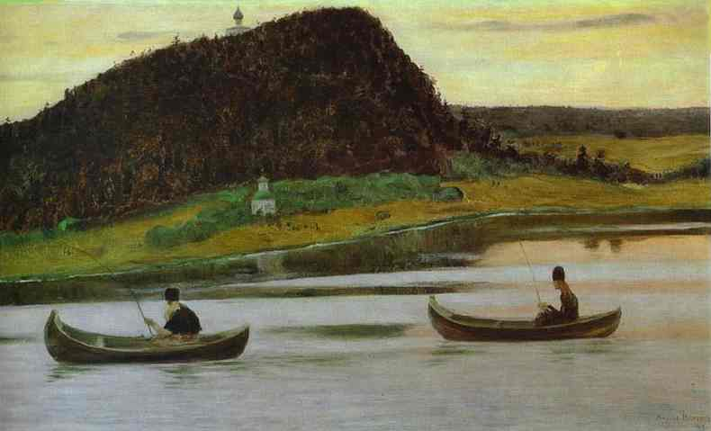 Silence, Oil by Mikhail Nesterov (1862-1942, Russian Empire)