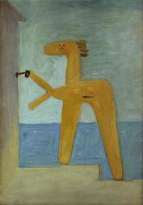Pablo Picasso - Bather Opening a Cabin