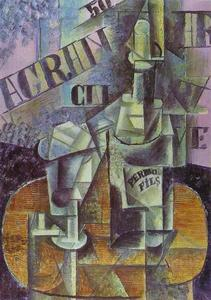 Pablo Picasso - Bottle of Pernod (Table in a Café)