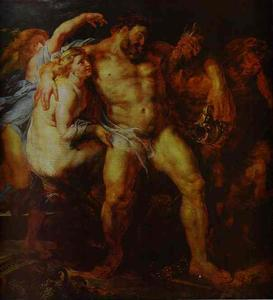 Peter Paul Rubens - Hercules Drunk, Being Led Away By a Nymph and a Satyr