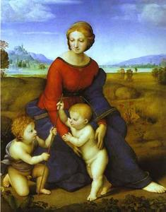 Raphael (Raffaello Sanzio Da Urbino) - Madonna of the Meadow