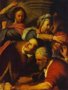 Rembrandt Van Rijn - Christ Drives Money-Changers from the Temple