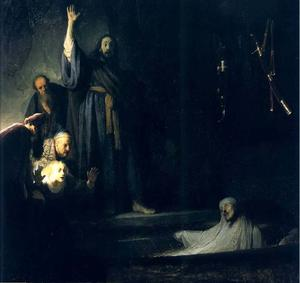 Rembrandt Van Rijn - La Resurrection De Lazare, los Angeles