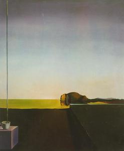 Salvador Dali - The True Painting of -The Isle of the Dead- by Arnold Bocklin at the Hour of the Angelus, 1932