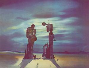 Salvador Dali - Archaeological Reminiscence of Millet-s Angelus, 1935