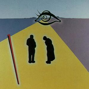 Salvador Dali - The Eye of the Angelus (stereoscopic work, right component, unfinished), 1978