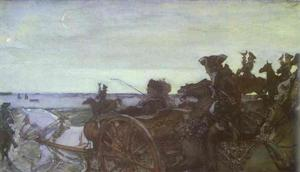 Valentin Alexandrovich Serov - Catherine II Setting out to Hunt with Falcons