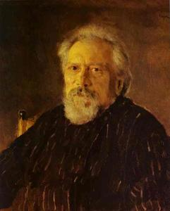 Valentin Alexandrovich Serov - Portrait of the Author Nikolay Leskov