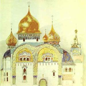 Victor Vasnetsov - Sketch for a church in an old Russian style