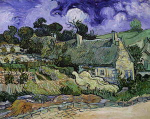 Vincent Van Gogh - Thatched Cottages at Cordeville