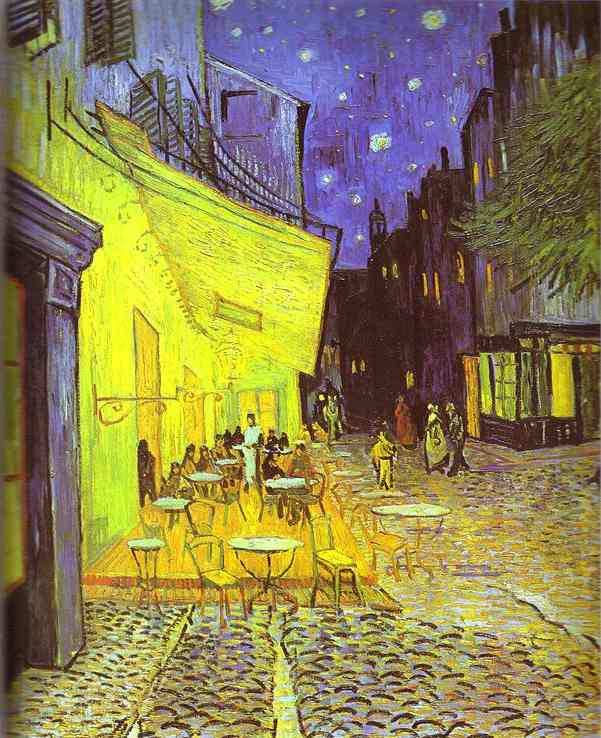 Order Museum Quality Reproductions : Café Terrace at Night by Vincent Van Gogh (1853-1890, Netherlands) | ArtsDot.com