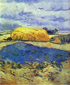 Vincent Van Gogh - Haystack in Rainy Day