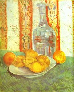 Vincent Van Gogh - Still Life with Bottle and Lemons on a Plate