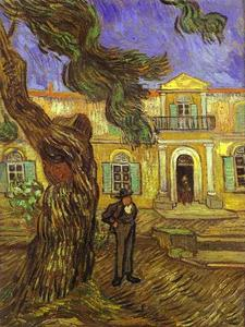Vincent Van Gogh - Tree and Man (in front of the Asylum of Saint-Paul, St. Rémy)
