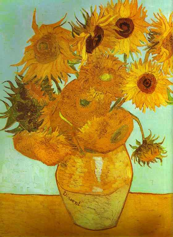 Twelve Sunflowers in a Vase, 1888 by Vincent Van Gogh (1853-1890, Netherlands) | Museum Quality Copies Vincent Van Gogh | ArtsDot.com