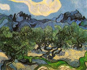 Vincent Van Gogh - Olive Trees with the Alpilles in the Background
