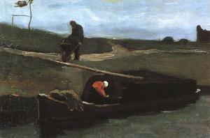 Vincent Van Gogh - Peat Boat with Two Figures