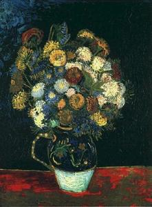 Vincent Van Gogh - Still Life Vase with Zinnias