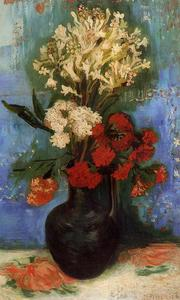 Vincent Van Gogh - Vase with Carnations and Other Flowers
