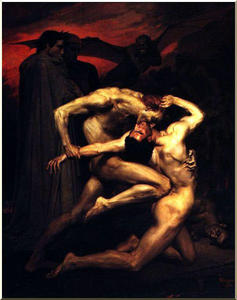 William Adolphe Bouguerea.. - Dante and Virgil in Hell