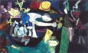 Pablo Picasso - Night Fishing at Antibes