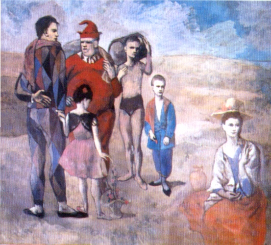Order Museum Quality Reproductions : Saltimbanques (The Family of Saltimbanques), 1905 by Pablo Picasso (1881-1973, Spain) | ArtsDot.com