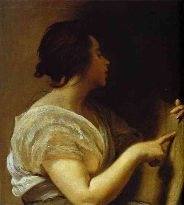 Arachne (A Sibyl), Oil by Diego Velazquez (1599-1660, Spain)